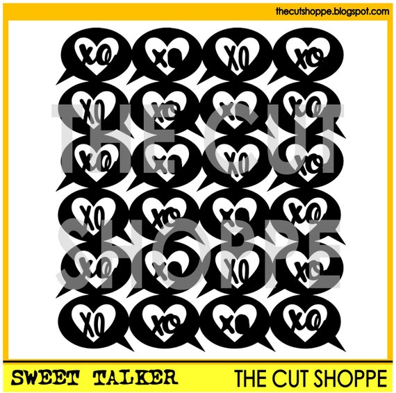 The Sweet Talker cut file, is a background design that can be used for your scrapbooking and papercrafting projects.