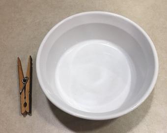 Corningware French White tiny casserole