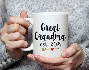 Great Grandma Coffee Mug - Pregnancy Announcement - Birthday Gift
