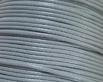 5 Metres 1mm KOREAN Waxed Cotton Cord - Round LIGHT GREY Cotton Wax Cord - Cotton Beading Stringing Cord - Australian Seller