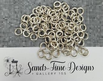 Sterling Silver Saw Cut Open JUMP RINGS 3mm ID, 18 gauge/1mm wire - 100 rings