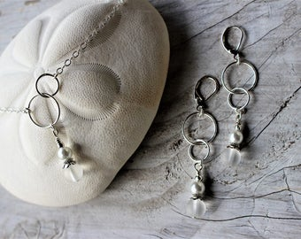 Bridesmaid Necklace and Earrings Set