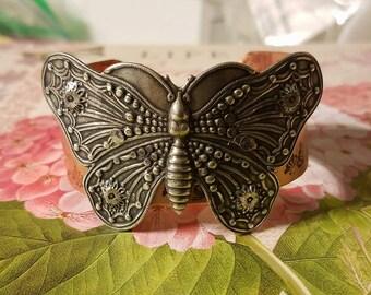Silver Butterfly Cuff Bracelet