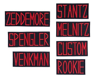 Ghostbusters Name Tags Badges GB1 Uniform Embroidered Iron On Patch Iron on Applique