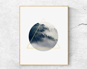 Nature prints, Geometric print, Large wall art print, Digital download art, Minimalist poster, Geometric art print, Wall art printable