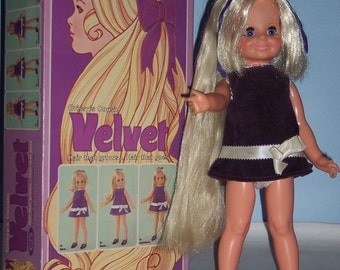 Original Ideal Velvet Crissy Doll with box and papers