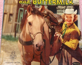 Dale Evans and Buttermilk Authorized Edition Tell A Tale Book