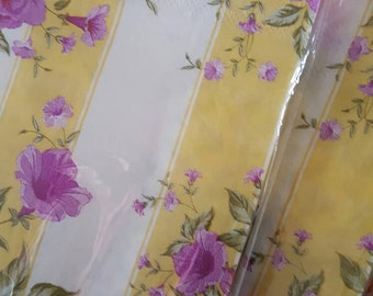 4 Decoupage Napkins floral and stripe
