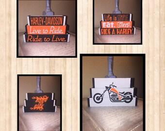 Harley Davidson interchangeable blocks