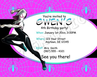 Spider-Woman Birthday Invitation - Printable