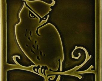 Arts & Crafts tile, Owl