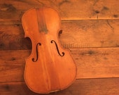 Vintage Violin Body Wood Lyon and Healy Chicago Wood Broken Instrument Music Musical Musician Fiddle Folk Music Parts Display Decor