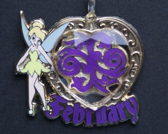 Disney Tinker Bell Trinkets February Birthstone Pendant Necklace Pixie Fairy