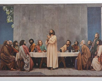 Last supper, Holy Supper, The last Supper, postcards