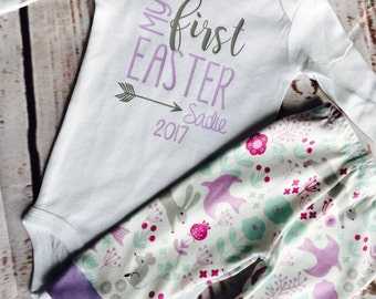 Baby Easter. First Easter. Baby girl. Easter Baby. Baby Easter Outfit. Easter Outfit. First Easter Outfit.
