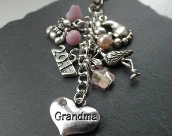 New grandparent bag charm - new grandparent gift - Grandma gift - Gran gift - grandparents gift - new Grandma - new gran