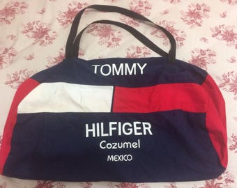 Vintage Tommy Hilfiger Cozumel Mexico Small Duffle Bag