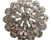 Dazzling Rhinestone Brooch/Pin Vintage 1950 Signed Eisenberg Rhinestone Pin Bride Pin Eisenberg Jewelry