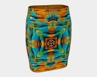 Wild Desert Fitted Pencil Skirt   S-M-L-XL  Wearable Art/Clothes/Clothing/Women/Skirts