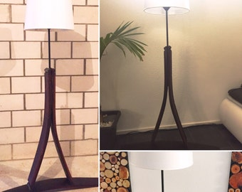 Stand lamp from wine barrel jackdaw (oak)