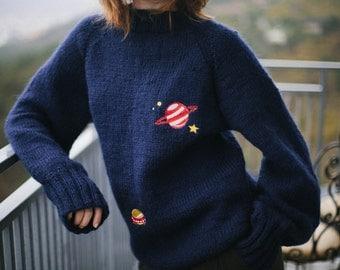 Sale! Bloom Cosmic Embroidered Handmade Jumper
