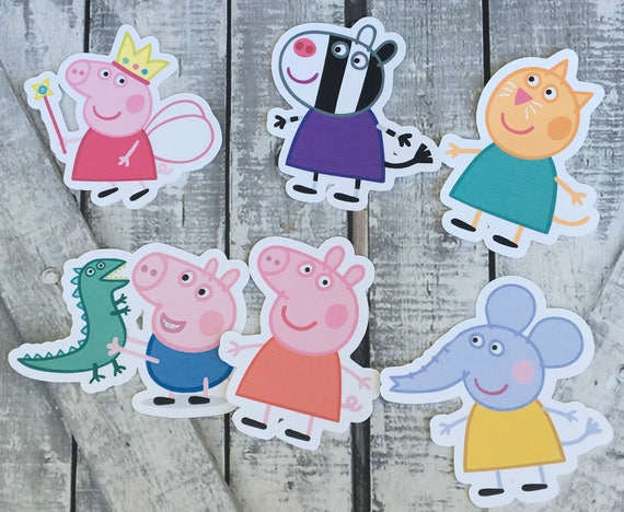Peppa PIg Die Cuts,Peppa PIg Cut Outs,Scrapbooking,Scrapbook Supplies,Scrapbooking Die Cuts,Peppa Pig,Peppa Pig Birthday Party Decor