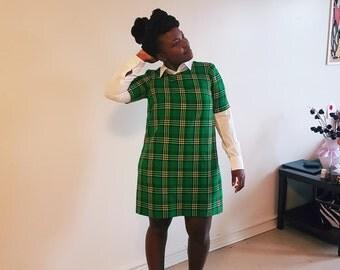 Eva - Maasai Tartan Short Dress