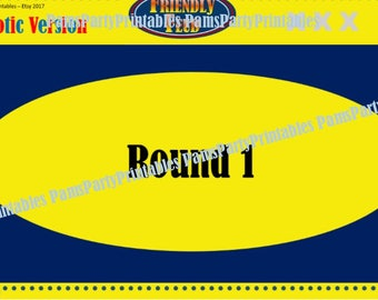 Patriotic, 4th of July Friendly Feud, Memorial Day Friendly Feud GAME TWO- Family Feud - Interactive PowerPoint Game -   Family Friendly