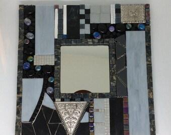 Mixed Media Mosaic Mirror