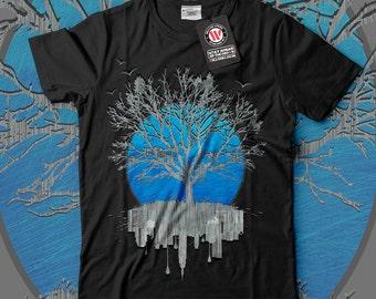 Urban Mirror Tree City View Men Black White Grey Red Royal Blue T-shirt S-5XL NEW   Wellcoda *y3092