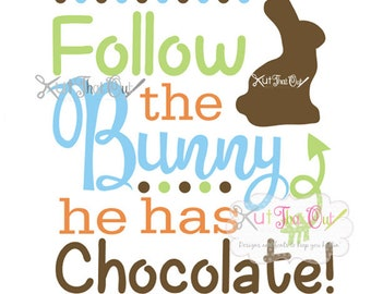 EXCLUSIVE Follow The Chocolate Easter Bunny SVG and DXF File