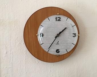 Clock wall round vintage - mid century french clock - clock Jaz