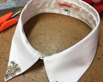 Hand beaded detachable collar // rhinestone collar // beaded collar // collar accessories // detachable collar // bibs