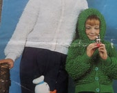 Knitting Pattern Women Girls Jacket Cardigan and Hooded Cardigan Jacket  2634 DK Vintage