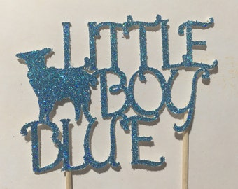 Little boy blue - cake topper