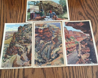Vintage Lot of Four Grand Canyon National Park, Arizona Post Cards