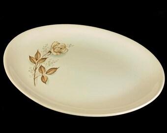 Mount Clemens, Platter, Brown Rose, Hard to Find Pattern, Oval Platter, Floral Platter