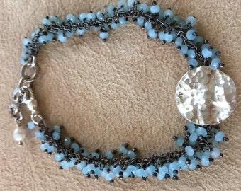 Hammered disk bracelet
