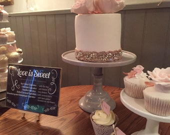 ROSIE Rose Gold Crystal Rhinestone Diamante Cake Trim Craft Trim