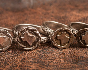 Sterling Silver Texas ring, ring Texas, cowgirl bling, state ring