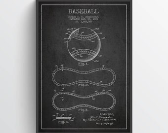 1928 Baseball Patent Wall Art Poster, Baseball Print, Baseball Art Print, Baseball Decor, Home Decor, Gift Idea, SPBA05P