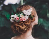 Wedding hair comb Flower handmade comb with preserved flowers Romantic hair comb Bridal hair comb Hairstyle Bridal hair fashion accessories
