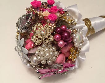 Flower Girl Bouquet/Pixie Bouquet/Small Brooch Bouquet/Flower Girl Brooch Bouquet/Small Bouquet/Brooch Bridal Bouquet/Prom Brooch Bouquet