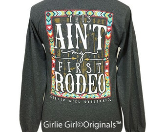Girlie Girl Originals First Rodeo Dark Heather Long Sleeve Unisex Fit T-Shirt