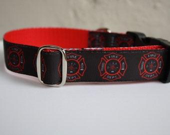 Fire Department Dog Collar