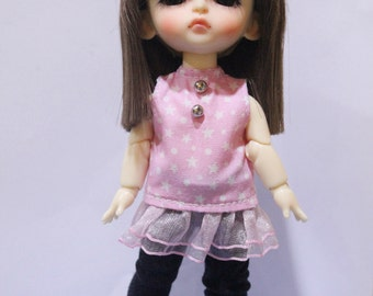 Top and Black Pants and Bow  For Lati Yellow / Pukifee Outfit #L026