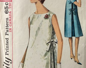 Simplicity 5271 vintage 1960's misses maternity dress sewing pattern size 12 bust 32