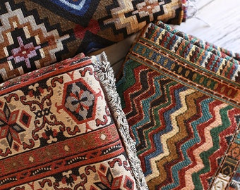 Bohemian Fabric, Ethnic Tribal Fabric, Upholstery fabric, Thick and  Heavy Weight  - 1/2 yard