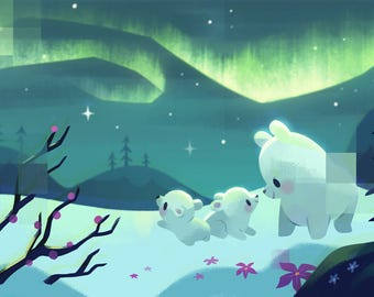 Polar Bears - Art Print