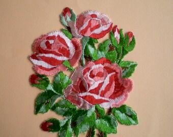 Big flower Appliques - vintage bouquet of roses